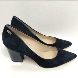 Calvin Klein Navy Blue Suede Block heels